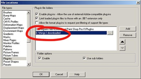 Flaming Pear:FAQ:Installing into Paint Shop Pro X
