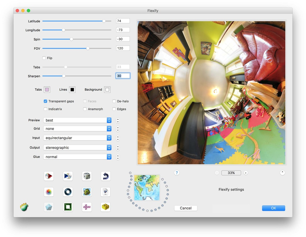 Flexify 2 Photoshop plug-in for panoramas, polyhedra, and