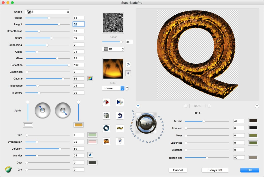 SuperBladePro for Mac OS X full screenshot